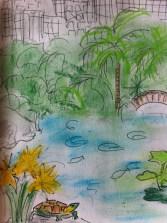 Morning stroll in Hong Kong Park from my Hong Kong Sketchbook