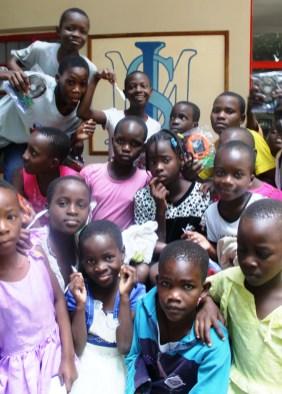 Solar lamp Christmas presents for the Saturday School children at Isamilo International School in Mwanza, Tanzania