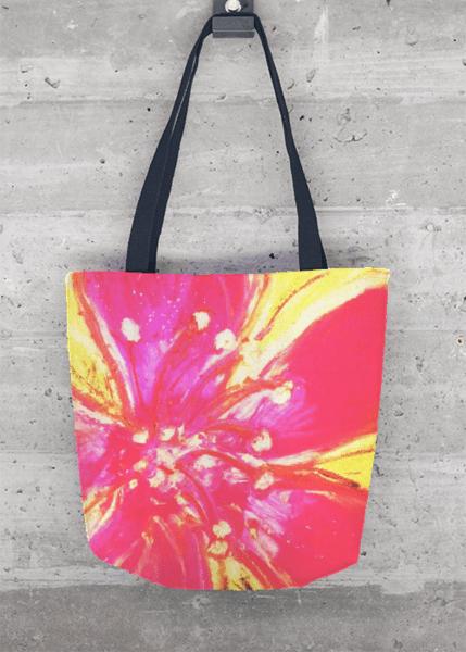 Tote Bag - Hibiscus Swirl by VIDA VIDA