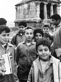 Children returning from school in the Dead Cities, Syria.
