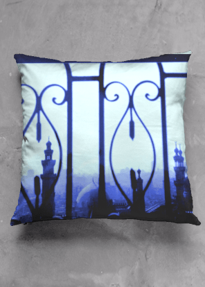 Cairo Cityscape cushion design for Vida