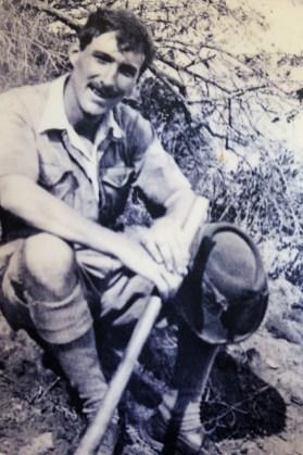 Louis Leakey at Tendaguru, Tanganynika in 1924 on one his first field expeditions