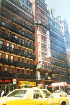 "The Chelsea Hotel, where Kerouac allegedly wrote ""On the Road"" in New York"