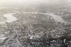 Flying over London