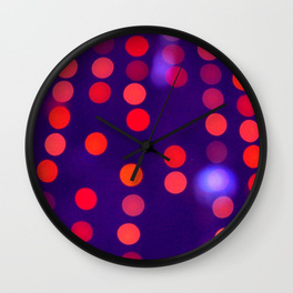 Blurred Indigo and Orange Lights - wall clock