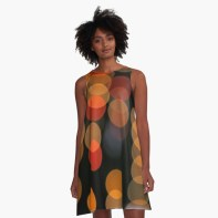 Blurred Orange Lights - A-line dress