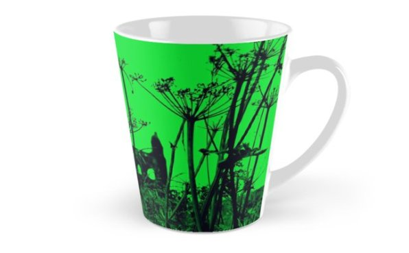 Whitby Abbey in Green - mug for RedBubble