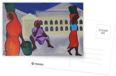 Dadas at the Market - postcard