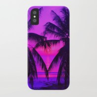 Pink Palm Trees by the Indian Ocean - i-phone case for Society6