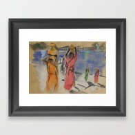 Women carrying water from Pushkar - framed art print