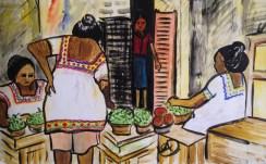 Women in the market in Merida, Mexico