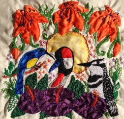 My East African bird inspired embroidery and appliqué design