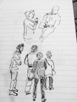 Quick street sketch by Hannah Dosanjh