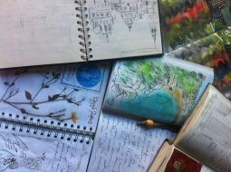 A selection of travel sketchbooks by Ali Dunnell of Travels with my Art
