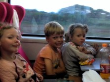 Frida, Leon and Lottie travelling on the Madaraka Express Mombasa-Nairobi Standard Gauge Railway
