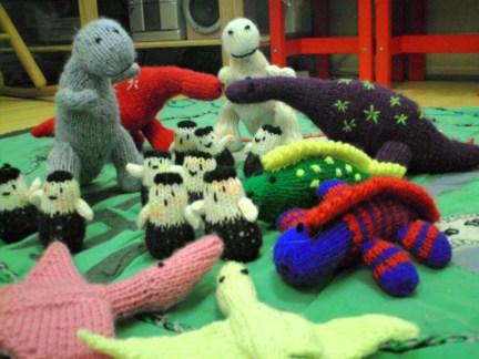 My Knitted Dinosaur Village