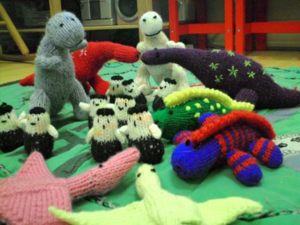 My Knitted Dinosaur Village