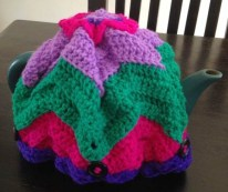 My crocheted tea cosy