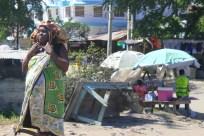 Street scene in downtown Mombasa, Kenya