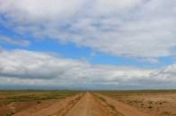 The flat plains of Amboseli National Park, Kenya
