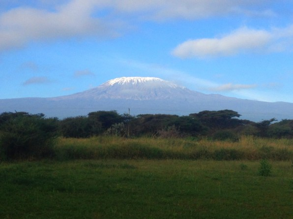 A perfect view of Mount Kilimanjaro from Amboseli Sopa Lodge in Kenya