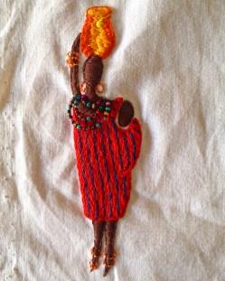 My Masai design for the Barocco dress