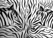 Zebra design from my Tanzanian sketchbook