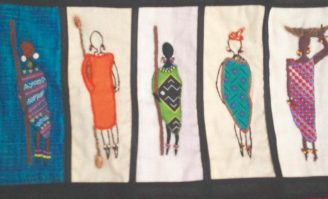 Barocco - The Red Dress Project - designed and embroidered by members of the Kenya Embroiderers' Guild - Part 1