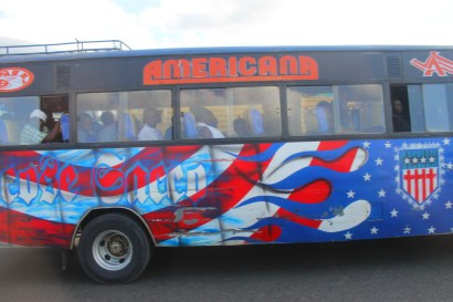 Painted bus in Nairobi