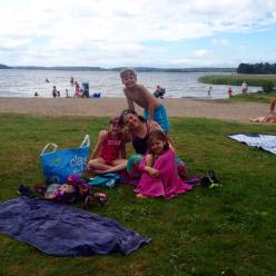 Wild swimming with my children in Lake Mälaren, Stockholm, Sweden