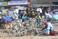 Bike repair shop in Nairobi