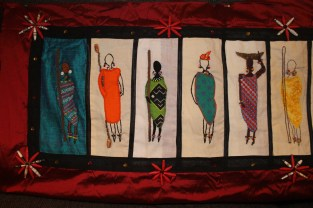 Barocco - The Red Dress Project - designed and embroidered by members of the Kenya Embroiderers' Guild Part 1