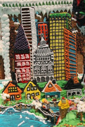 Gingerbread city at the ArkDes 2018 Exhibition