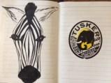 Zebra drawing from my Kenyan sketchbook