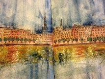 Painting of the Stockholm waterfront