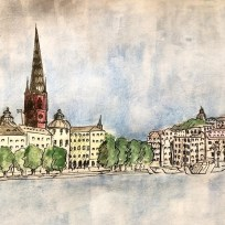 Gamla Stan from the Stadhuset in Stockholm