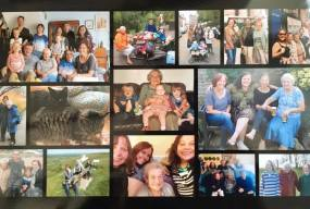 Images of mum with her family