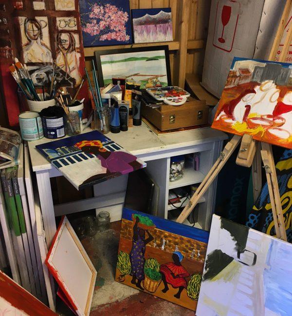 My new art studio - a room of my own