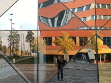 Ali reflected in the Scandic hotel