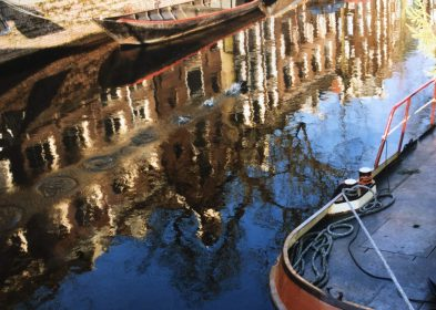Reflections in the Amsterdam Canals