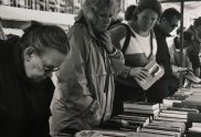 Browsing in the second hand book market, Amsterdam