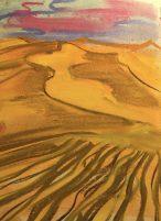 Sahara sand dunes pastel sketch