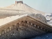 The ancient ruins of Palmyra located in the Syrian desert