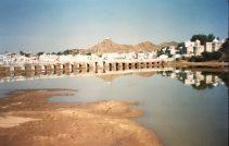 View across Puskhar Lake in Rajasthan, India