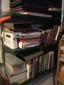 So many travel sketchbooks, journals, photographs and memories