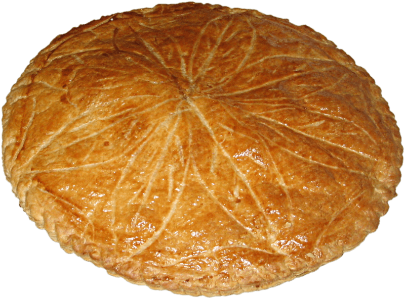 A French New Year tradition  the  galette des rois   or kings  cake     800px Galette des Rois  Marzipan cake