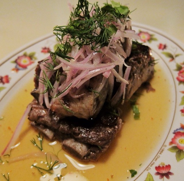 Si Krong Muu: pork ribs / mekhong whiskey / dill
