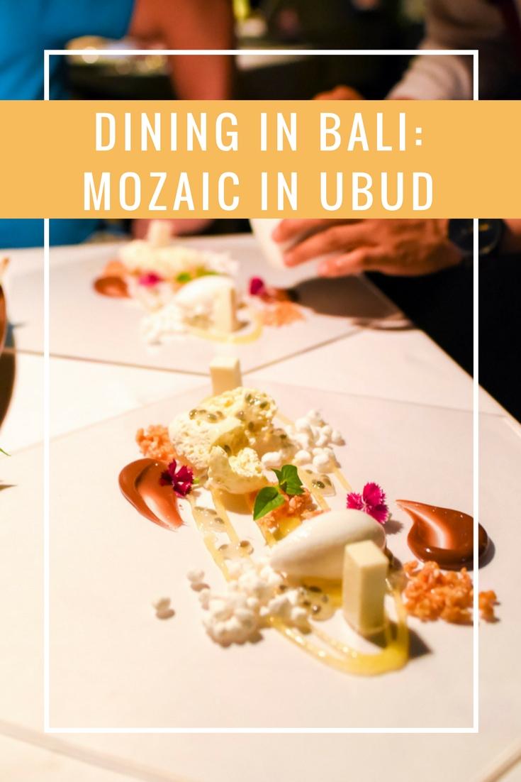Dining in Bali - Mozaic