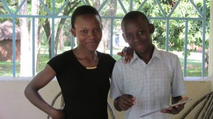 Siblings Nora and Dominic, two young teens who are grandchildren of Mzee and Mama