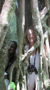 Victor and I standing inside a tree.